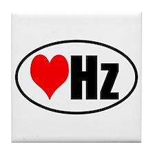 Love Hertz Tile Coaster