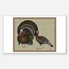 Turkeys Standard Bronze Pair Sticker (Rectangle)