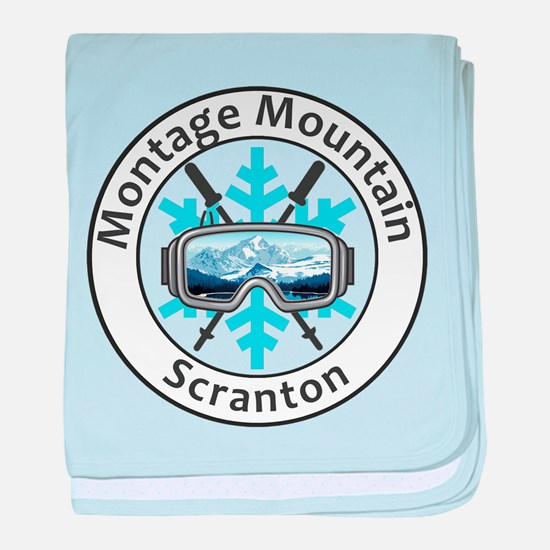 Montage Mountain Ski Resort - Scran baby blanket
