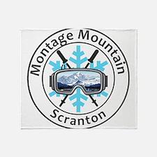 Montage Mountain Ski Resort - Scra Throw Blanket