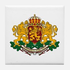 Bulgarian Coat of Arms Tile Coaster