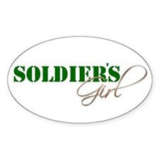 Oval Sticker: SOLDIER'S GIRL