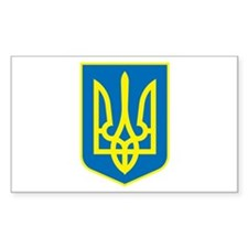 Ukraine Coat of Arms Rectangle Decal