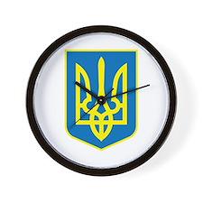 Ukraine Coat of Arms Wall Clock