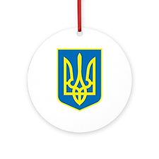 Ukraine Coat of Arms Ornament (Round)