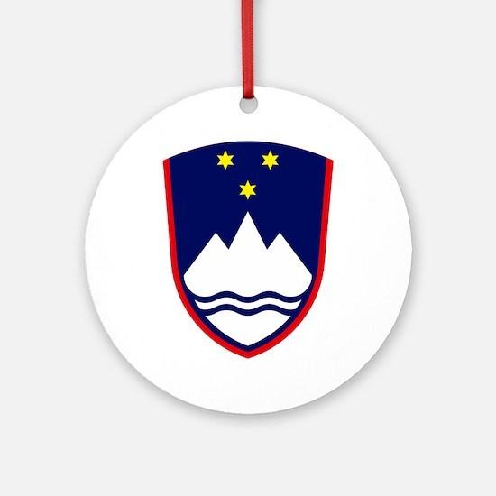 Slovenia Coat of Arms Ornament (Round)