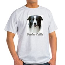 Border Collie Head Study and Motto Below