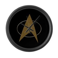 Star Trek Badge (TOS) Large Wall Clock
