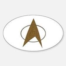 Star Trek Badge (TOS) Sticker (Oval)