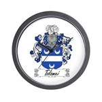 Tolomei Family Crest Wall Clock