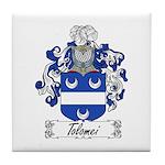 Tolomei Family Crest Tile Coaster