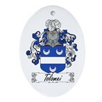 Tolomei Family Crest Oval Ornament