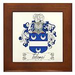 Tolomei Family Crest Framed Tile