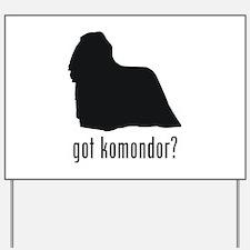 Komondor Yard Sign