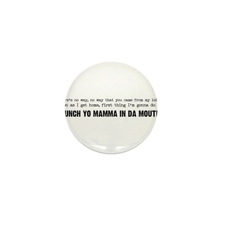 Punch Yo Mamma Mini Button