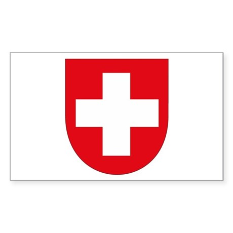 Switzerland Coat of Arms Rectangle Sticker