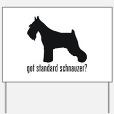 Standard Schnauzer Yard Sign