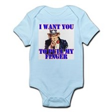 Pull My Finger Uncle Sam Infant Creeper