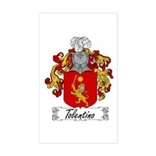 Tolentino Family Crest Rectangle Decal