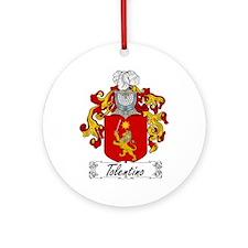 Tolentino Family Crest Ornament (Round)