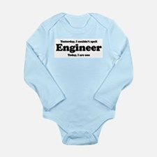 Can't spell Engineer Long Sleeve Infant Bodysuit