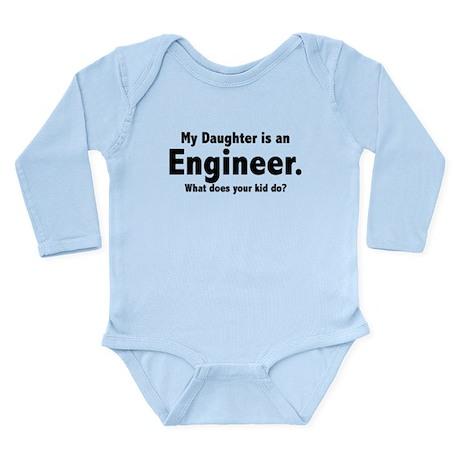 Engineer Daughter Long Sleeve Infant Bodysuit