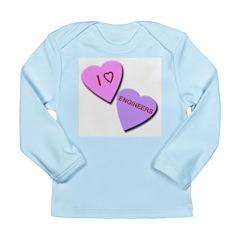 I Heart Engineers Long Sleeve Infant T-Shirt