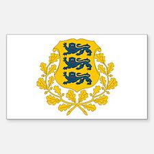 Estonia Coat of Arms Rectangle Decal