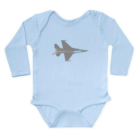 F-16 Long Sleeve Infant Bodysuit