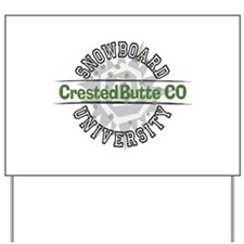 Snowboard Crested Butte CO Yard Sign