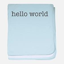 Hello World Infant Blanket