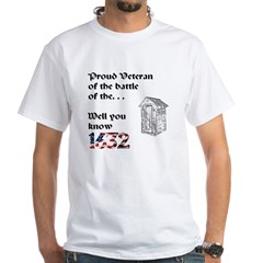 Battle of the Crapper White T-Shirt