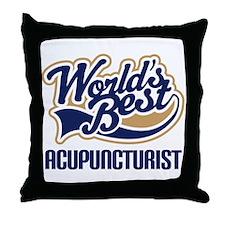 Worlds Best Acupuncturist Throw Pillow