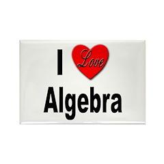 I Love Algebra Rectangle Magnet (10 pack)