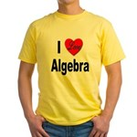 I Love Algebra (Front) Yellow T-Shirt