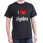 I Love Algebra (Front) Black T-Shirt
