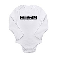 Neanderthals are Human Long Sleeve Infant Bodysuit