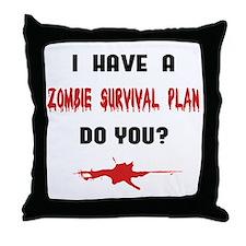 Zombie Plan Throw Pillow