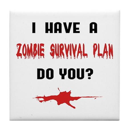 Zombie Plan Tile Coaster