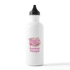Worlds Best Assistant Principal Water Bottle