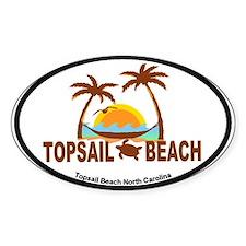 Topsail Beach - Palm Trees Design Decal