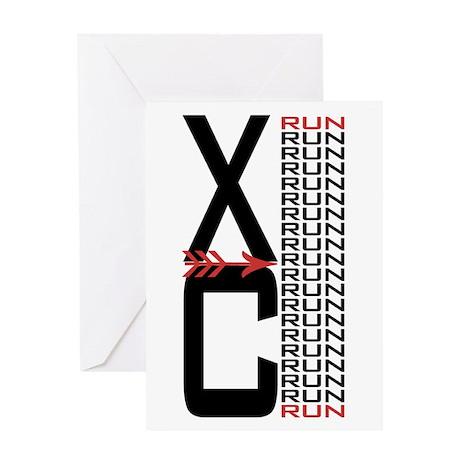 XC Run Run Greeting Card