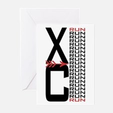 XC Run Run Greeting Cards (Pk of 10)