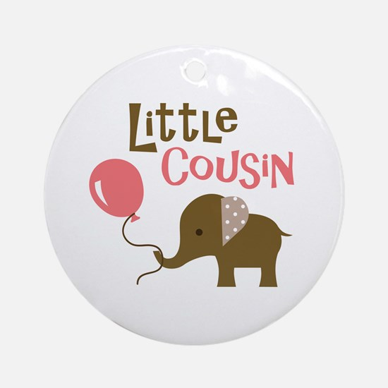 Little Cousin - Mod Elephant Ornament (Round)