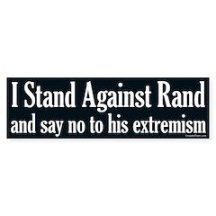 I Stand Against Rand Paul bumper sticker