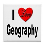 I Love Geography Tile Coaster