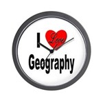 I Love Geography Wall Clock