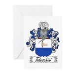 Todeschini Coat of Arms Greeting Cards (Package of