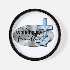 Walking By Faith Wall Clock
