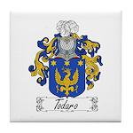 Todaro Family Crest Tile Coaster